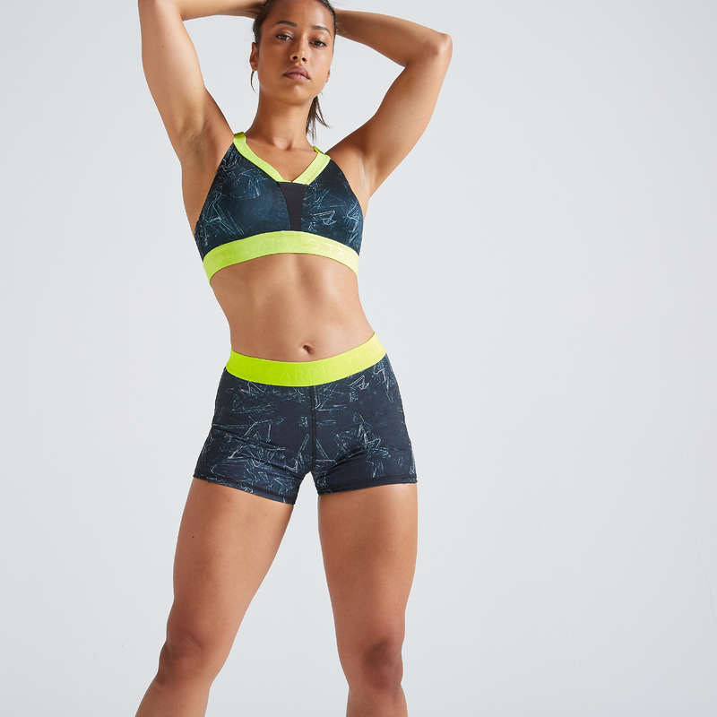 FITNESS CARDIO INTERMEDIO PANOPLIE DONNA Fitness - Pantaloncini donna cardio 500 DOMYOS - Abbigliamento palestra