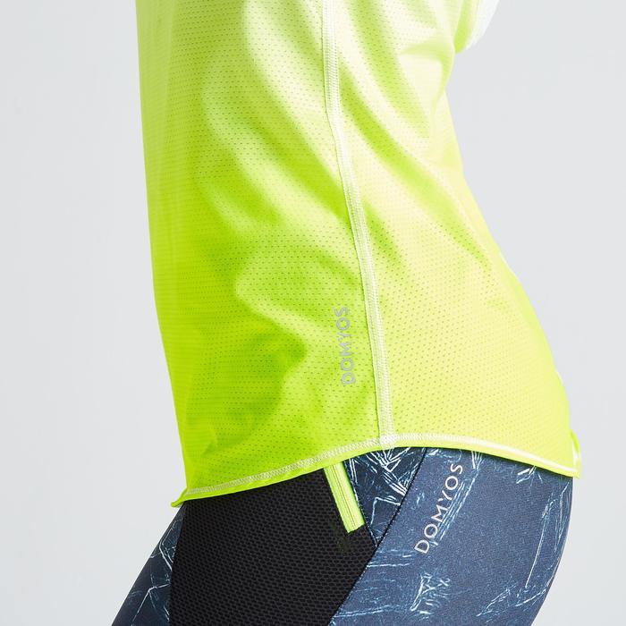 Débardeur fitness cardio training femme jaune 500