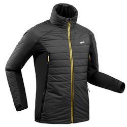 Chaqueta térmica enguatada de esquí freeride hombre FR 900 gris