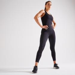Jumpsuit voor cardiofitness dames 900 zwart