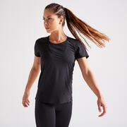 Women's Expert Polyester Fitness T-Shirt - Black