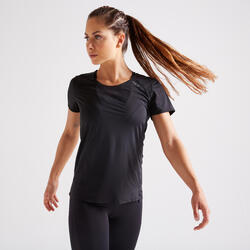 Women's Expert Polyester Fitness T-Shirt - Black