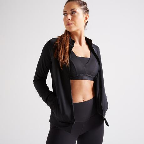 Chaqueta Cardio Training Mujer Negro 900 Fitness kPXZTuOi