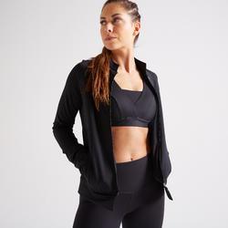 Chaqueta chándal Sudadera cremallera Cardio Fitness Domyos FJA 900 mujer negro
