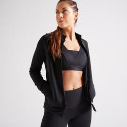 Sudadera deportiva cremallera Cardio Training Domyos FJA 900 mujer negro