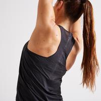 Camisole entraînement cardio femme noir 900