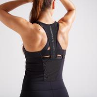900 Women's Fitness Cardio Training Jumpsuit - Black