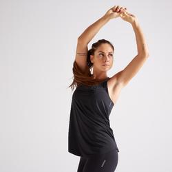 Camiseta sin mangas Tirantes Cardio Fitness Domyos 900 mujer negro