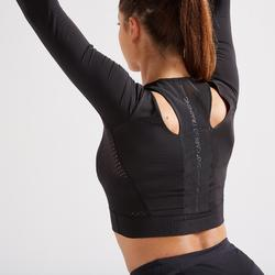 Crop Top FCT 900 Cardio/Fitness-Training Damen schwarz