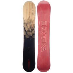 男款滑雪道與全山地單板滑雪板BULLWHIP 300 EVO,黑色、木紋與紅色