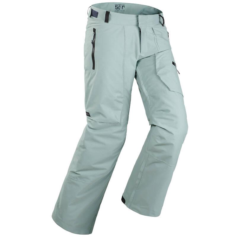 BEGINNER MEN SNOWBOARD EQUIPMENT Lyžování - SNB KALHOTY 500 ZELENÉ  DREAMSCAPE - Lyžařské oblečení a doplňky