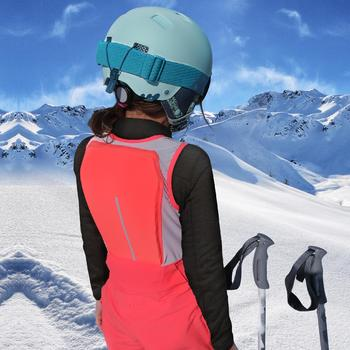 SKIING SALOPETTES FREERIDE 900 with Built-In Back Protector BIB PROTECT - PINK
