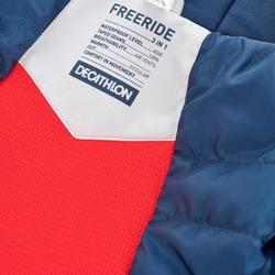 Skijacke Freeride 900 3-in-1 Kinder grau blau
