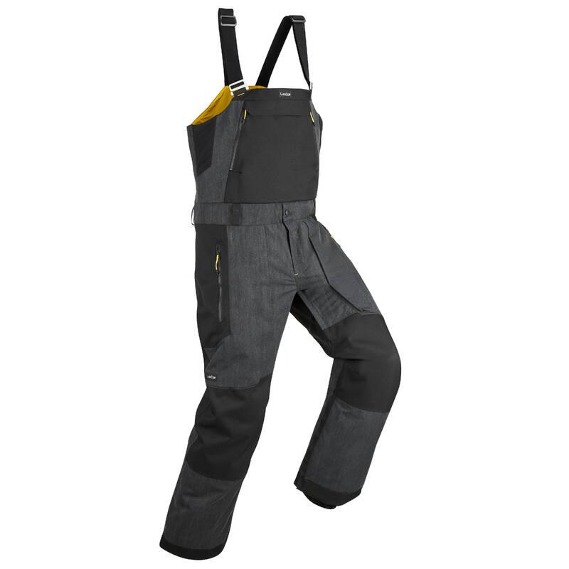BEGINNER MEN SNOWBOARD EQUIPMENT Lyžování - KALHOTY S LACLEM BIB 900 ČERNÉ DREAMSCAPE - Lyžařské oblečení a doplňky
