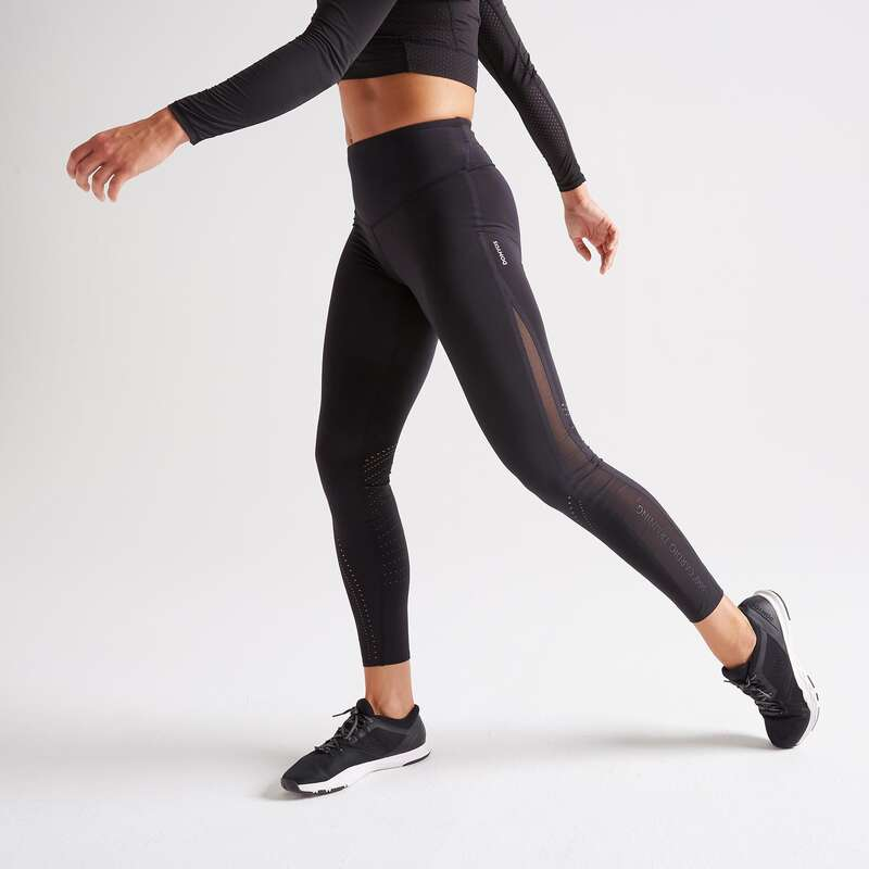 FITNESS CARDIO EXPERT WOMAN CLOTHING Fitness and Gym - FTI 900 Leggings - Black DOMYOS - Gym Activewear
