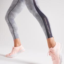 Legging voor cardiofitness dames 900 print