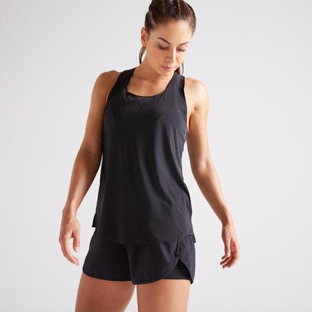 900 Women's Fitness Cardio Training 2-in-1 Shorts - Black
