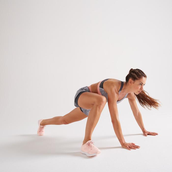 2-in-1 damesshort 900 voor fitness en cardiotraining met print
