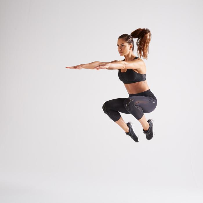 Legging 7/8 fitness cardio training femme noir 900