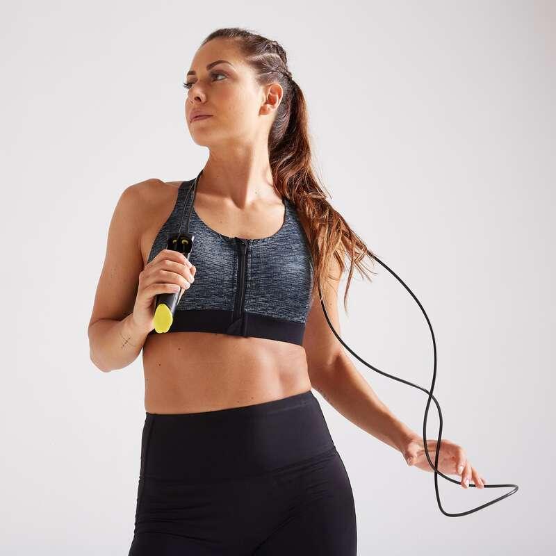 Bekleidung Damen Sport-BH's Damenbekleidung - Sport-BH Zip FBRA 900 meliert DOMYOS - Damenbekleidung