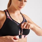Women's Fitness Power Sports Bra - Black