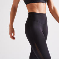 900 Women's Fitness Cardio Training 7/8 Leggings - Black