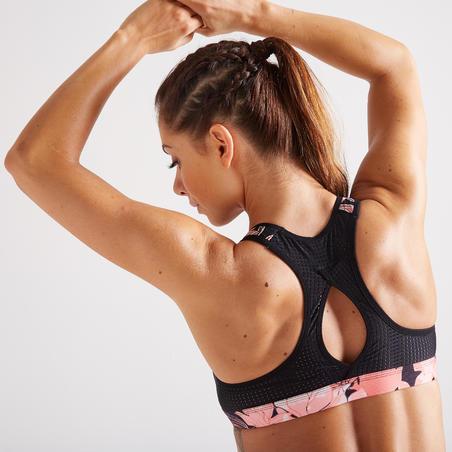 900 Power Women's Fitness Cardio Training Sports Bra - Black