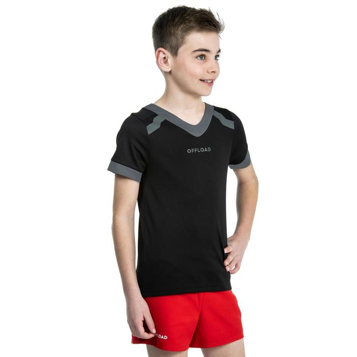 Rugbytrikot Club R100 Kinder schwarz