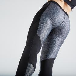 Legging fitness cardio training femme gris chiné 120