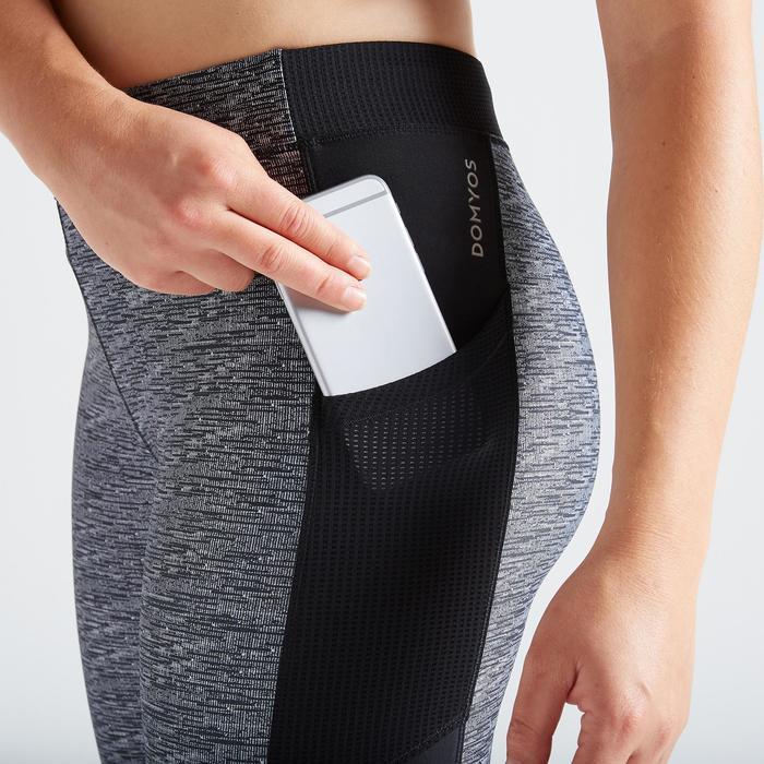 Legging fitness cardio training femme gris chiné 120