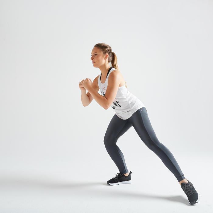 Mallas Leggings deportivos Cardio Fitness Domyos FTI 120 mujer gris