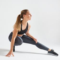 Women's Fitness Leggings With Key Pocket - Grey