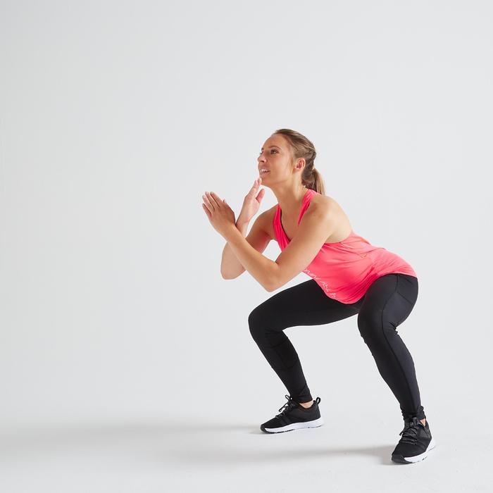 Fitness legging 120 voor dames, zwart