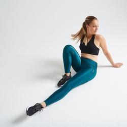 Mallas Leggings deportivos Cardio Fitness Domyos FTI 120 mujer azul
