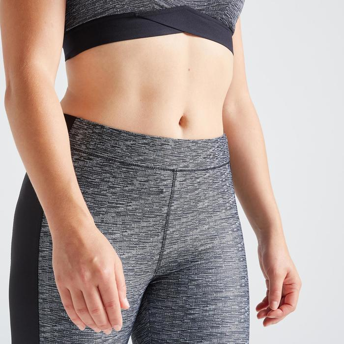 Fitness legging 120 voor dames, gemêleerd grijs