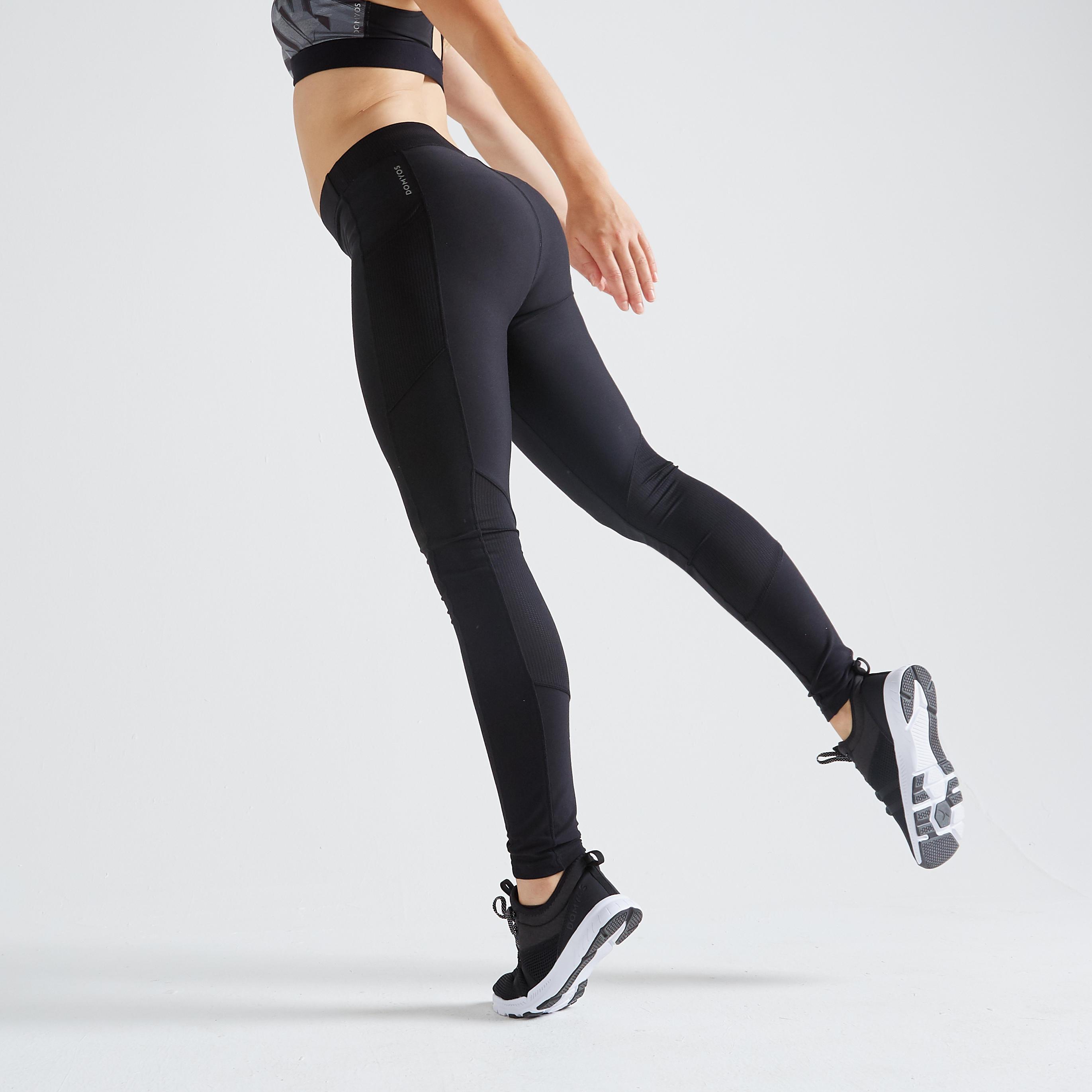 Domyos Fitness legging 120 voor cardiotraining dames zwart