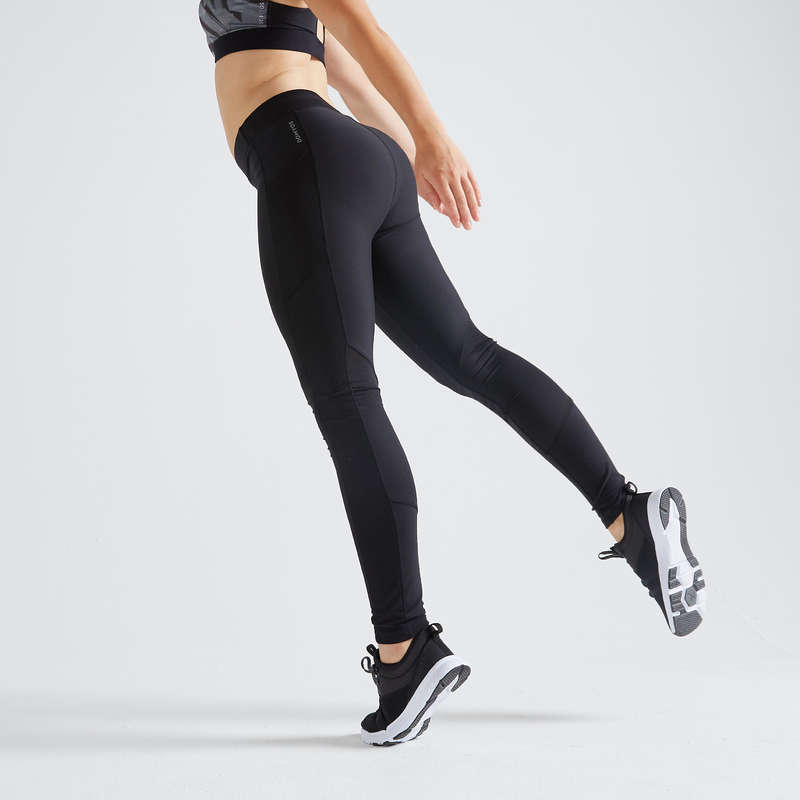 WOMAN FITNESS ENERGY APPAREL Fitness and Gym - FTI 120 Leggings - Black DOMYOS - Gym Activewear