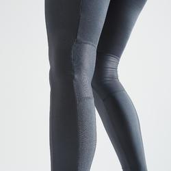 Legging fitness cardiotraining dames 120 grijs