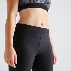 120 Women's Fitness Cardio Training Leggings - Black