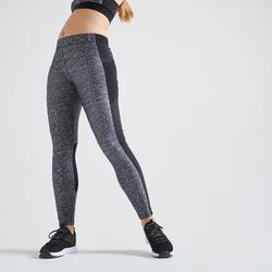 120 Women's Fitness Cardio Training Leggings - Mottled Grey