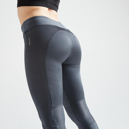 120 Women's Fitness Cardio Training Leggings - Grey