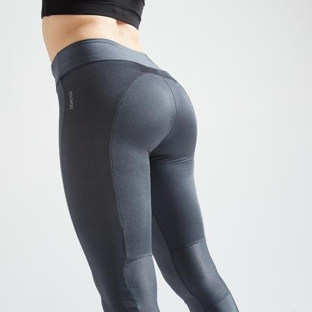 Mallas Deportivas Cardio Fitness Domyos FTI 120 mujer gris