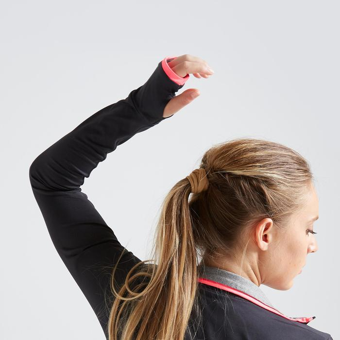Fitness vest 100 voor dames, zwart