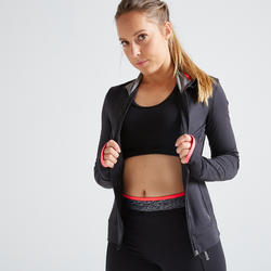 100 Women's Fitness Cardio Training Jacket - Black
