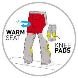 Snowboard- en skibroek voor jongens SNB PA 500 donkergrijs
