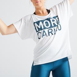 T-shirt fitness cardio training femme blanc 120