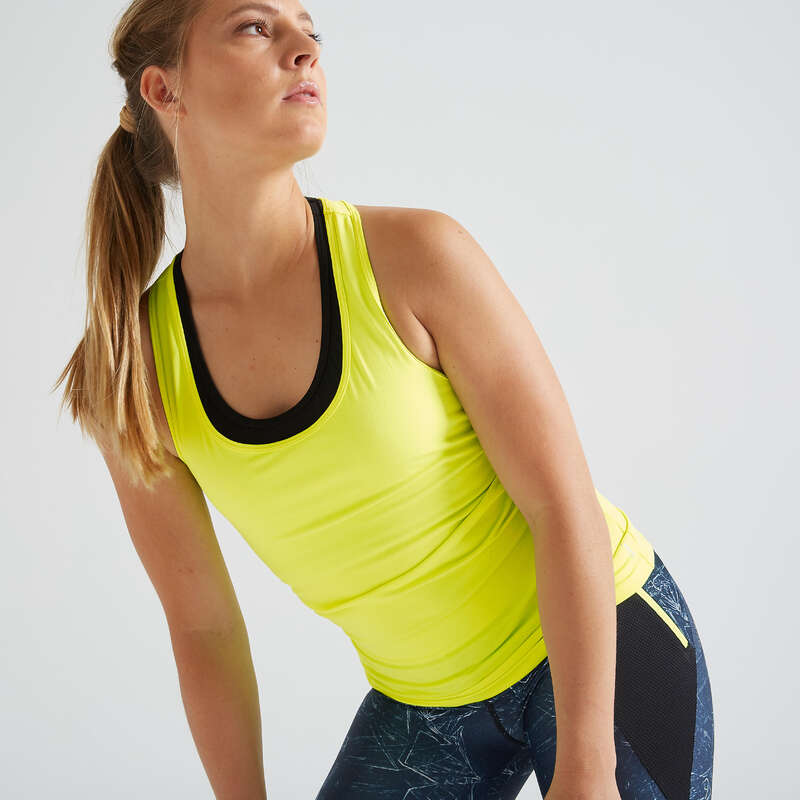 WOMAN FITNESS ENERGY APPAREL - My Top 100 Tank Top - Yellow