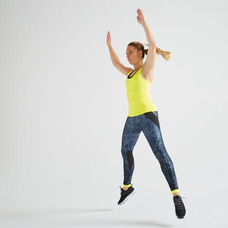 """Sieviešu sporta bezpiedurkņu krekliņš """"100"""", dzeltens"""