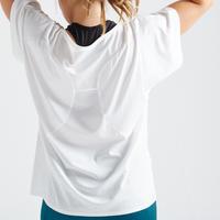 120 Women's Fitness Cardio Training T-Shirt - White
