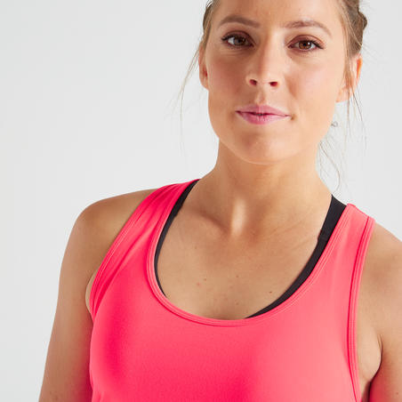 Muscle Back Fitness Tank Top My Top - Pink